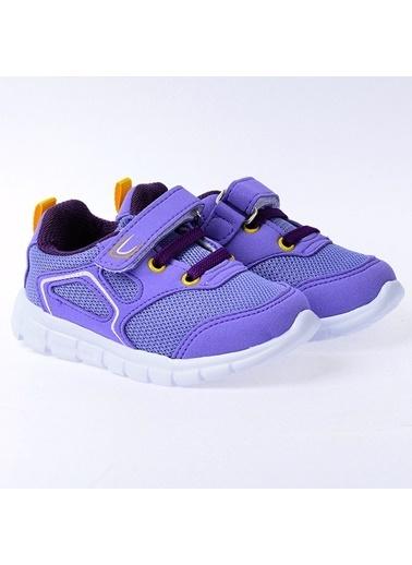 Kiko Kids Kiko S27 Günlük Fileli Cırtlı Kız/Erkek Çocuk Spor Ayakkabı Lila